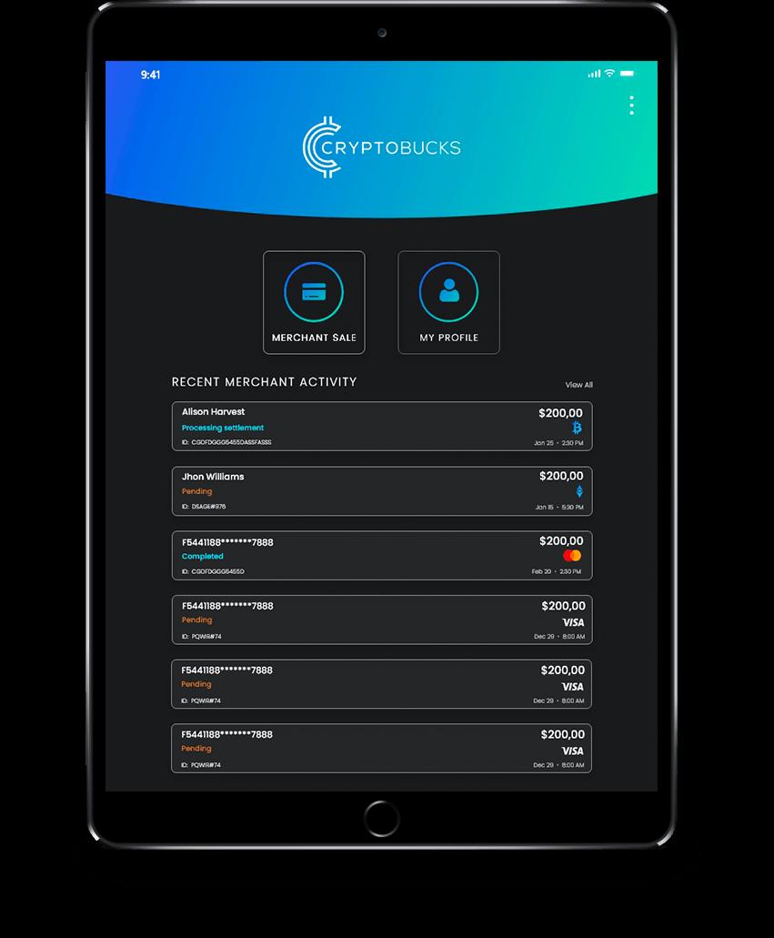 Manage payments through an Ipad